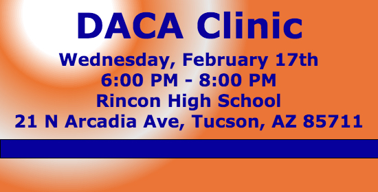 Come get help with your DACA application. Lawyers will be present to answer questions.