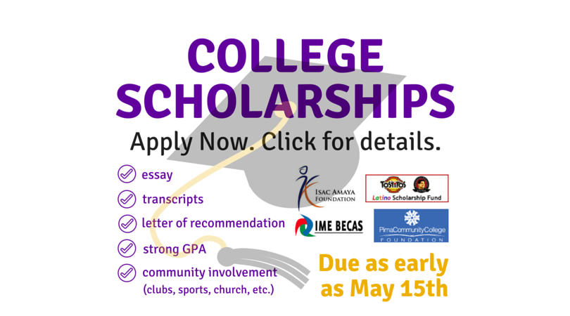 This is the time to apply for scholarships.
