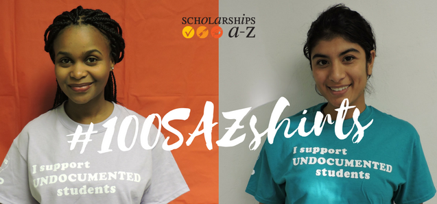 100sazshirts campaign for undocumented students 39 scholarships