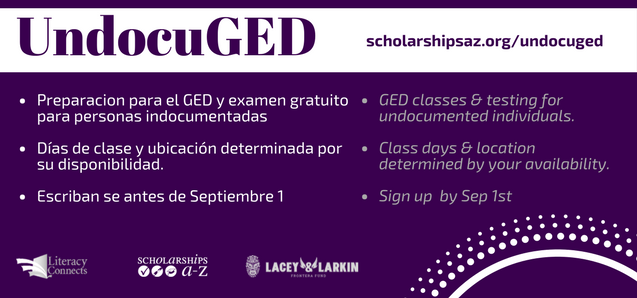 Signup for our UndocuGED program.